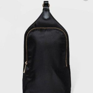 Black Sling Backpack Purse Bag Tote Women New Day
